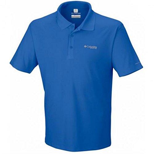 les S/S Polo Shirt, Vivid Blue, Small (Columbia Pfg Polo-shirts)