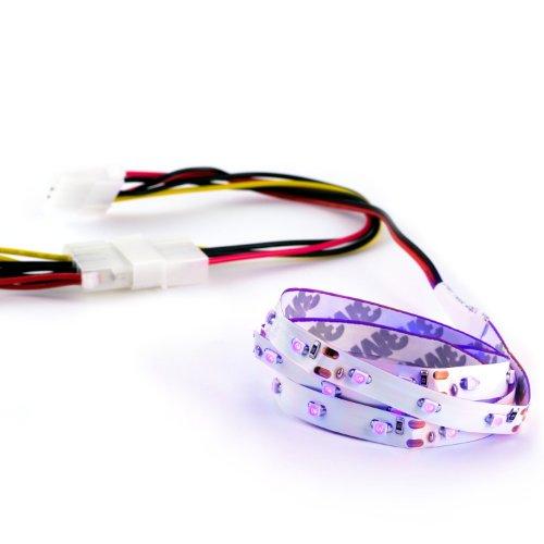 CSL - LED Flex-Stripe | Case Modding | Länge: 60cm | SMD-LEDs in blau/blue / hohe Leuchtkraft | selbstklebende Rückseite