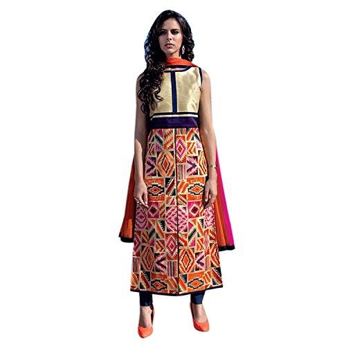 Kurti (Bankcroft Export Girl\'s Heavy tapeta Multi_Colour Printed Kurti_(XL_1054_Kurti For Women\'s ))