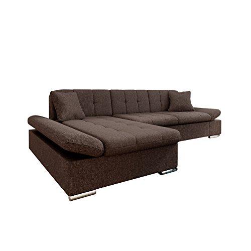 Mirjan24  Ecksofa Malwi mit Regulierbare Armlehnen Design Eckcouch mit Schlaffunktion und Bettkasten, L-Form Sofa vom Hersteller, Couch Wohnlandschaft (Boss 6, Ecksofa: Links) (Boss Modernes Sofa)