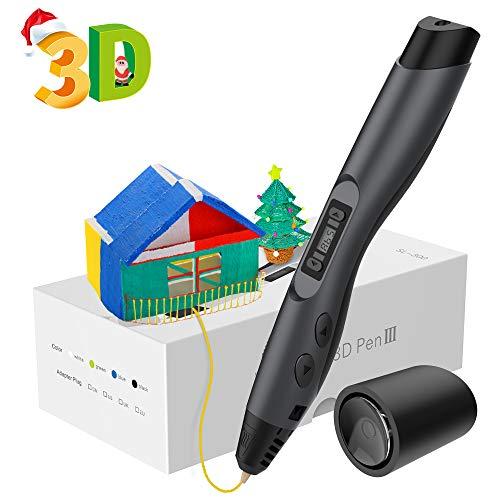 Aerb 3D Penna Stampa, Con Schermo LCD e Controllo della Temperatura, 8 diversi livelli Velocità regolabili, 3D Penna Compatibile Con PLA/ ABS, Regalo Per Bambini, Adulti, Artista