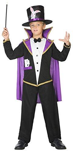 ATOSA 39413 Zauberer Kostüm, Jungen, mehrfarbig, 140 cm (Zauberer-kostüm Für Jungen)