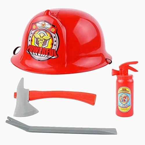 Snner Fireman Werkzeug Spielset Jungen Helm Spielzeug Feuerwehr Rettungs Set Ausrüstung zur Brandbekämpfung EIN Kit