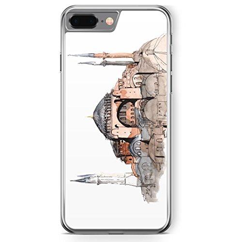 iPhone 8 Plus Hülle - Hagia Sophia Ayasofya Istanbul Türkei - Motiv Design Türkiye Cami Islam - transparente durchsichtige Handyhülle Hardcase Schutzhülle Cover Case Schale Hardcover (Cami Sophia)