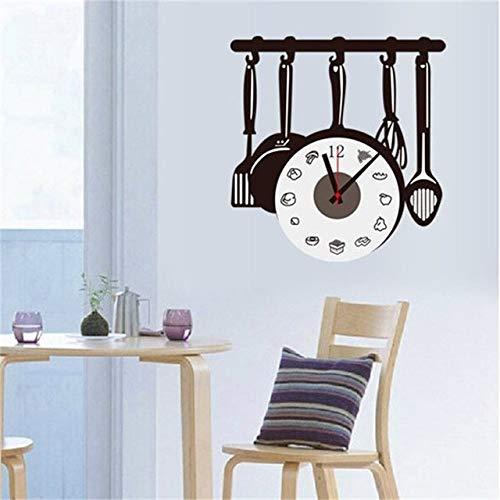 Besteck Design Wanduhr Metall Herd Messer Gabel Löffel Küchenuhren Kreative Moderne Wohnkultur Antiken Stil Wanduhr