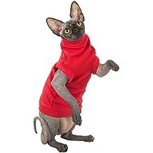 Kotomoda Katzen Kleidung Warm Turtleneck maxi Winter in Red (S)