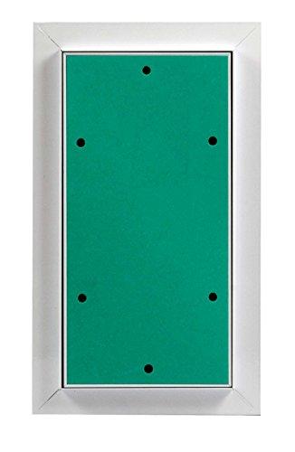 MW multi werkzeug Revisionsklappe 150 x 300 mm mit 12,5mm GK-Einlage imprägniert für Feuchtraum geeignet Aluminium-Rahmen weiß pulverbeschichtet 15 x 30 cm
