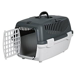 Trixie Capri 1 Transportbox, Kunststoff, Gr. 32 × 31 × 48 cm, Hellgrau/Dunkelgrau