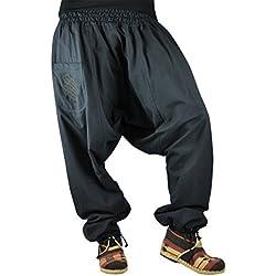 virblatt Pantalones cagados con patrón Reversible con Entrepierna Mediana Profunda Talla única Unisex S - L Pantalones Bombachos de Invierno con Cremallera - Unüberlegt Extra Warm