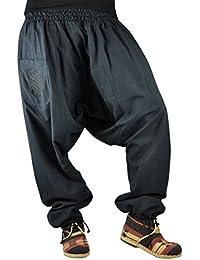 virblatt bonzaai sarouel femme mode hippie pantalon de yoga sarouel réversible sarouel chaud - unüberlegt extra warm noir