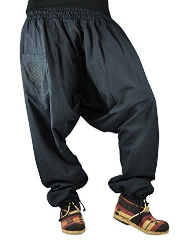virblatt pantalones cagados con patrón reversible con entrepierna mediana  profunda talla única Unisex S - L d04c789c989d