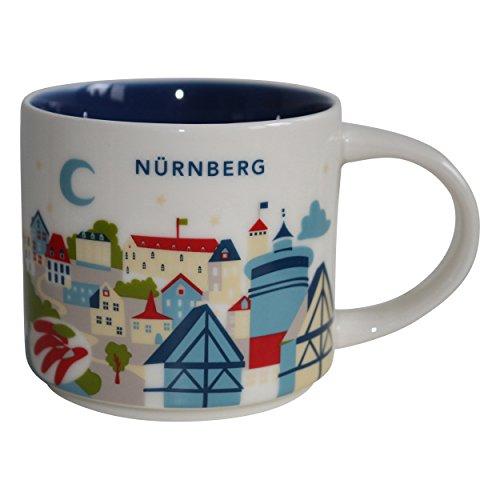 Starbucks City Mug You Are Here (YAH) Collcetion Nürnberg Deutschland Coffee Kaffeetasse (weiß, blau) -
