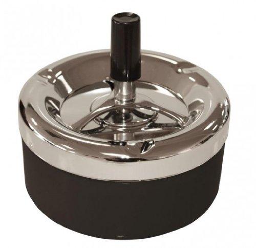 Cendrier rotatif - 13,5 cm, noir