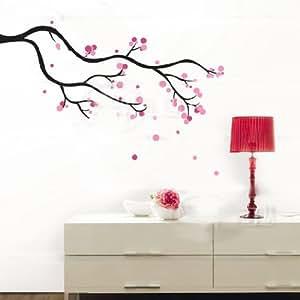 blumen baum wandtattoo kinderzimmer schlafzimmer wohnzimmer jm8092 k che haushalt. Black Bedroom Furniture Sets. Home Design Ideas