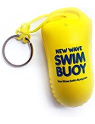 New Wave Swim Buoy & Water Sports Floating Key Chain / Buoyant Camera Float for Open Water Swimmers and Triathletes