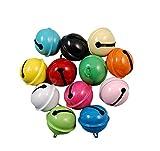 50X Toruiwa Bunte Glöckchen Schellen Lose Perlen für DIY Schmuck Anhänger Ornamente Hochzeit Dekoration Hundehalsband Zubehör Zufällige Farbe