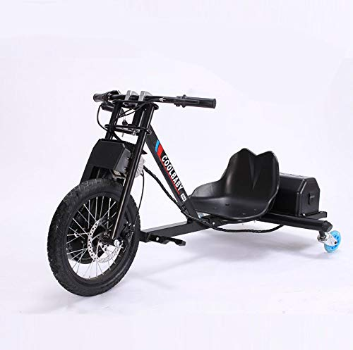 HWQ 500w Drift Kart, 360 Drift Tricycle, Youth Electric Drift Car,smallwheel