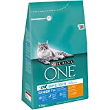 Purina One Bifensis Crocchette Gatto Senior 11+ Ricco in Pollo e Cereali Integrali, 1.5 kg