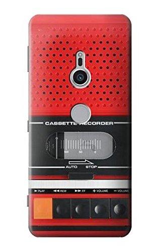 Innovedesire Red Cassette Recorder Graphic Hülle Schutzhülle Taschen für Sony Xperia XZ2