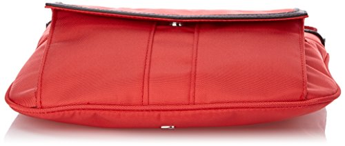 Tommy Hilfiger - Adrianna Flat Crossover, Borsa a tracolla Donna Rosso (Rot (HIBISCUS 283))