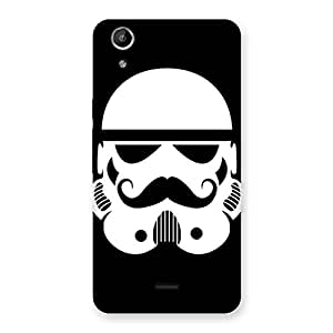 Special Mustach Black Back Case Cover for Micromax Canvas Selfie Lens Q345
