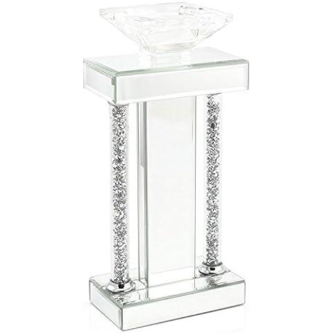 Leonardo Collection cristallo Colonna portacandele, argento, 33cm, piccolo