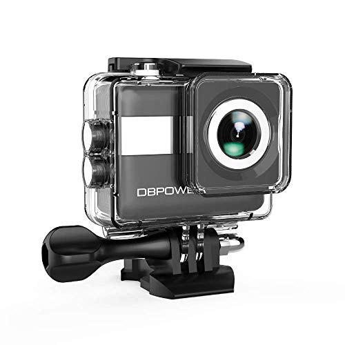 DBPOWER® Action Camera impermeabile 1080P HD 12MP KIT 2 Batterie ed accessoristica varia (Argento)