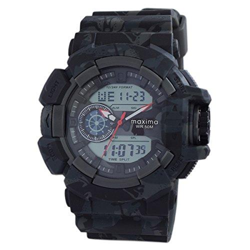 Maxima Analog-Digital Black Dial Men\'s Watch-42942PPAN