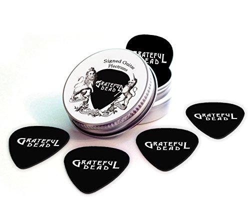 Grateful Dead Black Gitarre Plektren With Tin Zinn Band Logo (HB) (Gitarren Pick Grateful Dead)