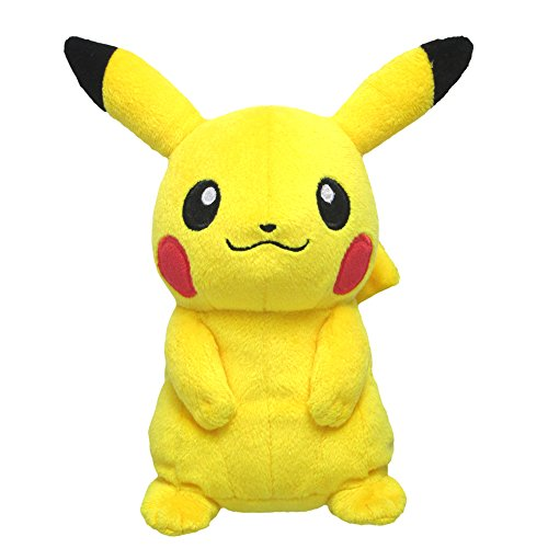 Pokemon-ALL-STAR-COLLECTION-Pikachu-stuffed-animal-sitting-height-16cm-PP1