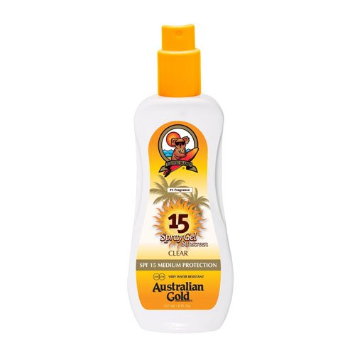 Australian Gold SPF 15 Spray Gel, 1er Pack (1 x 237 ml) -