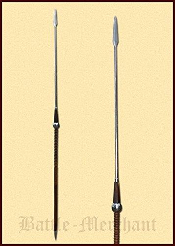 chaft Wurflanze Speer 215 cm oder 224 cm LARP Ritter Samurai Verkauf ab 18 Jahren (215 cm) (Samurai-rüstung Halloween-kostüm)