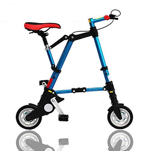 AB folding bike Bicicletta Pieghevole Pieghevole in Alluminio per Bicicletta Mini-Ammortizzata Blu
