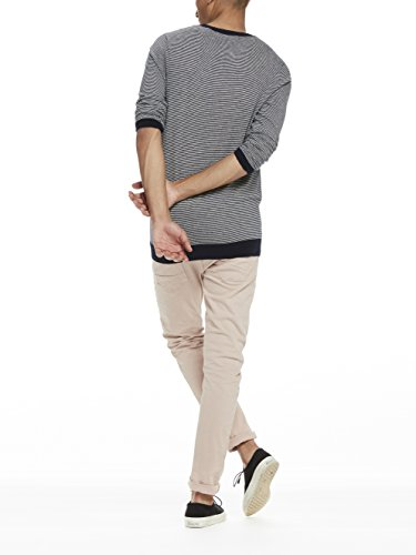 Scotch & Soda Classic Crewneck Pullover In Soft Cotton Quality with Chest, Pull Homme Mehrfarbig (combo 217)