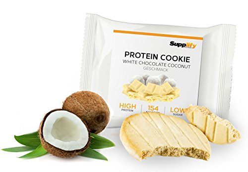 154 kcal White Chocolate Coconut wie Proteinriegel mit Whey Eiweiß 6x 40g Riegel ()