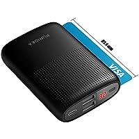 Bateria Externa para Movil, PURIDEA 10000 mAh Power Bank Cargadore Portátiles Carga(Batería del Li-Polímero de la Entrada 2.4A) con LCD Indicada para iPhone X 8 7 6 Plus, iPad, Android (Negro)