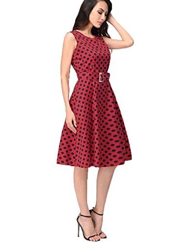 lemongirl-women-a-line-dot-dress-vest-puff-dresses