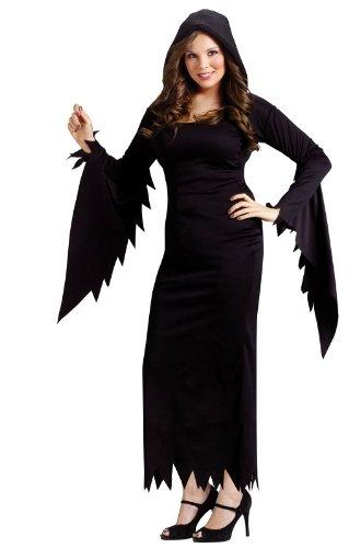 Unbekannt Zauberin Hexe Damenkostüm Plus Size schwarz XXL