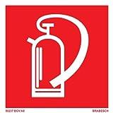 BRABESCH Aufkleber Brandschutzzeichen Feuerlöscher 100x100 BGV A8 Folie
