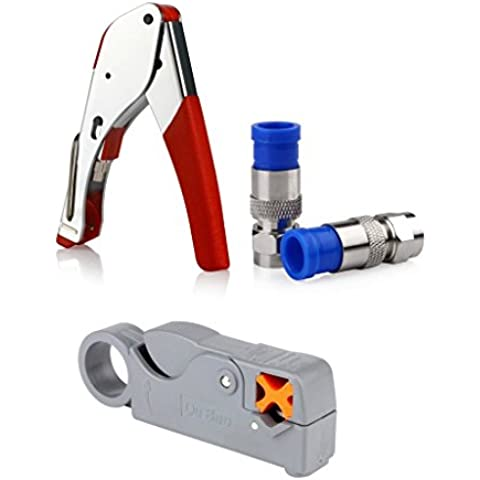 FOME hogar y cocina de compresión para conector herramienta Cable Stripper RG6montaje + a FOME regalo rosso