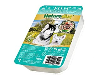 Case Of 18 Naturediet Fish 390g Dog Food