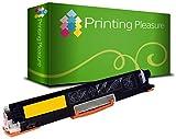 Printing Pleasure Toner Kompatibel zu CE312A für HP Color Laserjet CP1025 CP1025NW CP1020 M175a M175nw Pro 100 M175 MFP M175A M175NW M275 TopShot M275 - Gelb, Hohe Kapazität