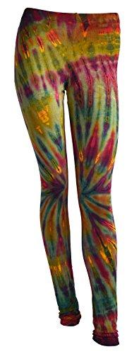 Tye Die Leggings Yoga Hose Yoga Pants Batik Leggings (Aus Viskose Yoga-hose)
