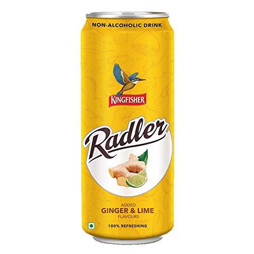 KingFisher Radler Ginger Lime Non Alcoholic Malt Drink Can, 300ml