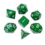 TOYMYTOY Set di dadi poliedrici Dadi da gioco per gioco di società (Verde)