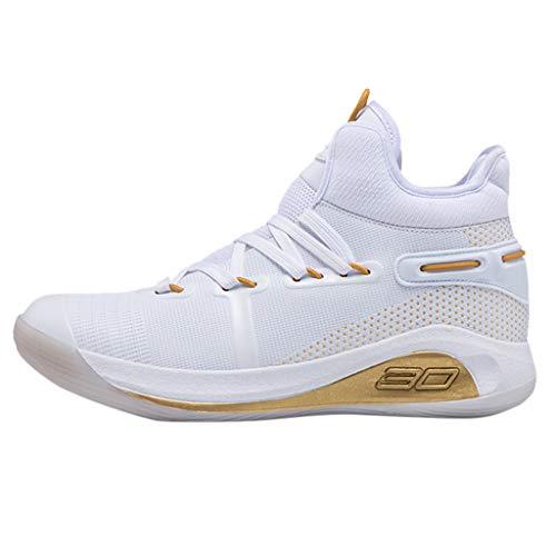 Lilicat Herren Damen Basketballschuhe Turnschuhe Sportschuhe Männlich Sneaker Laufschuhe Outdoor Schuhe Freizeit Fitnessschuhe rutschfeste Atmungsaktive Schnürer Turnschuhe