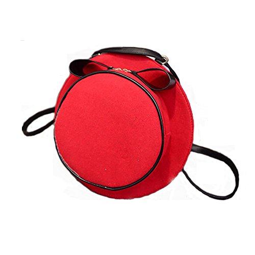 Zaino e Borsa a tracolla 2 in 1 collegio stile Forma Cappello dolce moda borsa a spalla sacchetto di scuola Daypack delle donne ONEGenug (Rosso)
