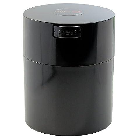 Tightvac Coffeevac 1/2 Pound Vacuum Sealed Storage Container, Solid Black