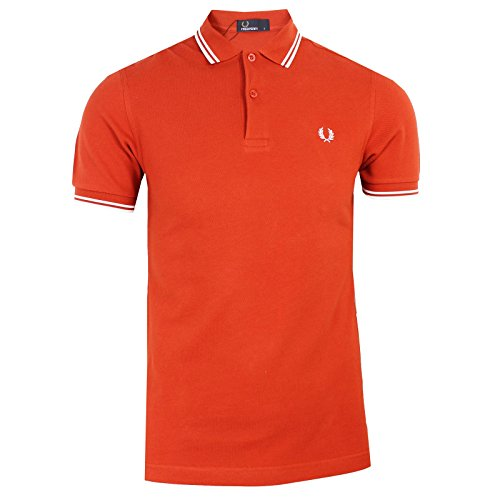 "Herren Poloshirt ""M3600"" Slim Fit Kurzarm Dullred/Snwwht"