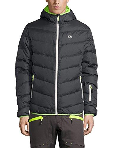 Ultrasport Advanced Piumino da uomo per sport invernali/outdoor Mylo, giacca da sci, giacca da snowboard, giacca trapuntata, giacca invernale, giacca da neve, Grigio Scuro/Neon Giallo, M